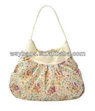 lady fashion floral printing handbag
