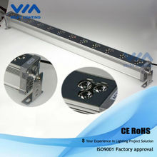 DMX led wall washer light,Epistar 1w led light source,2 rows RGB mixing color
