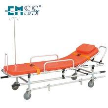 Adjustable stretcher trolley for hospital