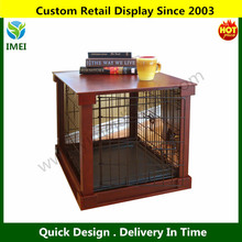 Custom Design Pet Crate with Cage Cover,Wood Metal Dog House,Home Pet Houses