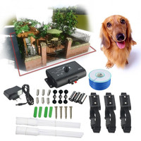 2015 New In-Ground Outdoor Shock Electric Collar Dog Train Control Device Pet Electric Fence For 3 Dogs High Quality