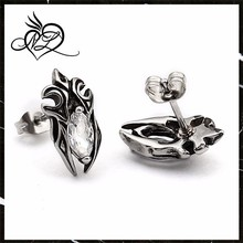 Cheap sale delicate boys earrings studs handmade crystal men's stud earrings