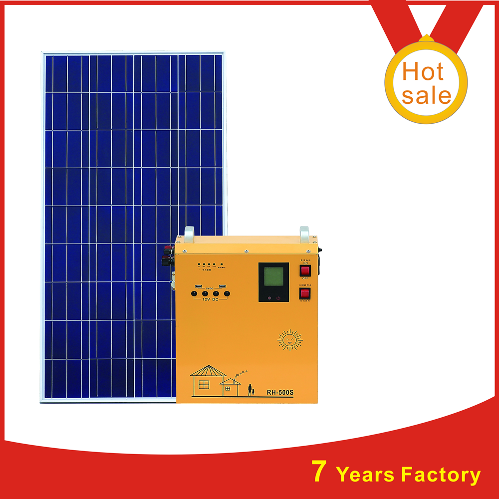 portable off grid 1KW solar generator system for home use
