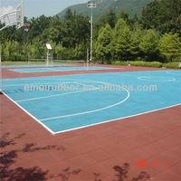 Anti-slip rubber Outdoor floor tiles for sport