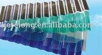 polycarbonate transparent corrugated plastic roofing sheet