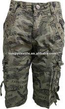 Pantalones corto para hombre pantalones de carga modelo fresco corta de diseno