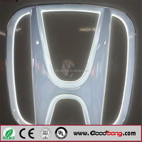 Round 3D Custom Led Auto Car Chrome Auto Logo Lighted Auto Emblem