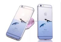 Cute Cartoon Dolphin Penguin Whale Seal Polar Bear Sea Lion Animal Design Matte Slim Fit Clear Soft TPU Cover Case for Iphone 6