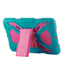 New arrival shock proof hybrid rotating stand tpu pc hybrid case for iPad mini