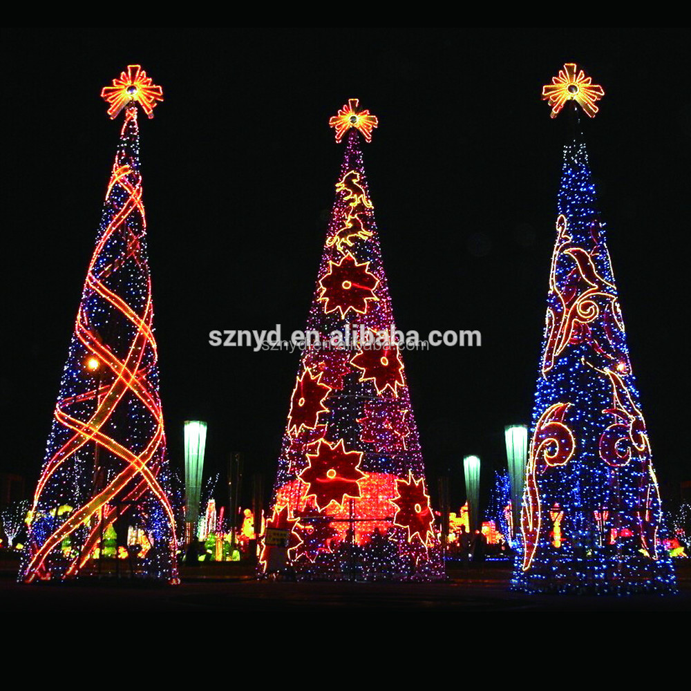2015 giant christmas tree for outdoor decorations for Led outdoor christmas ornaments