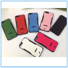 For Iphone6 accessories, 2014 new products TPU leather/Aluminum stander cell phone case for Iphone6