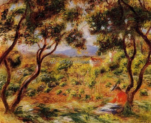 The Vineyards of Cagnes by Pierre-Auguste Renoir painting