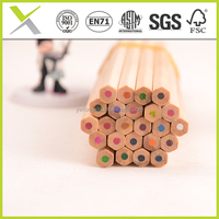 Natual promotion wood pencil,wood color pencil set