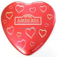 Tin can manufacturer supply heart shape tinplate metal candle tin