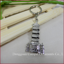 Creative Leifeng Pagoda Zinc Alloy Metal Key Chains, other styles can be Customized