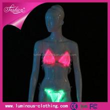 New design led lighting sexy hot women lingerie best support maternity bra
