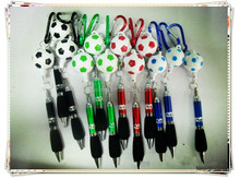 TL-0102 new design football pen , short ball pen with Key Circle