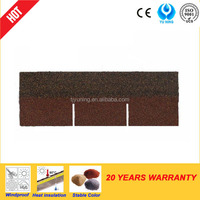3-tab colored asphalt roofing shingles