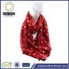 Fashion Ladies Viscose Scarf Rayon Shawl Red Polka Dot Scarf Tube Women Scarf
