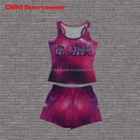 Fashion design sublimation cheer uniforms