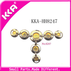 High quality metal gold shoe chain wholesale low cost