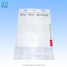 custom printed opp plastic bag/opp bag packing with hanging header and self adhesive sealed flap