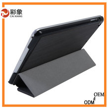2015 Hot Selling ROCK Series Smart Cover Ultra-thin 3 Fold Stand Flip Protective PU Leather Case for iPad mini 3