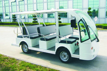Cheap big open top 23 seater sightseeing bus for sale from foshan