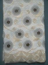novo design bordado africano laço de organza de alta qualidade 2013 LF100