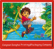 Customized shaped high quality carton paper puzzle