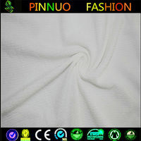Shaoxing 100 polyester knitting seersucker fabric for clothing
