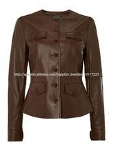 Mujeres chaqueta de cuero para el otoño Hecho de alta calidad de cuero de las ovejas