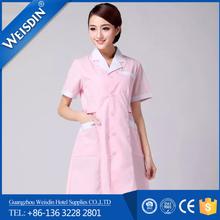 Anti-bacterial wholesale soft new style fashion design dress nurses uniform patterns