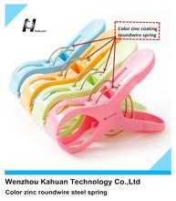 Color zinc roundwire circular elastic spring for large plastic clothes clip