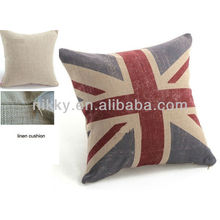 """The Union Jack British Flag Cotton linen Square Cushion Cover throw pillow case / cushion case / pillow cover 18"""""""
