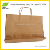 250gsm plain brown kraft paper bag with jute handle twist
