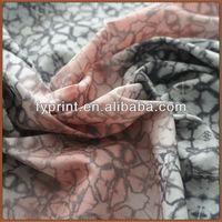 Custom 3d Printing on Digital Printed Peach Skin Fabric For 100% polyester Dress Fabric