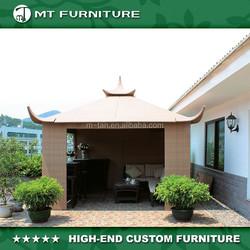 luxury modern garden furniture, PE rattan summer shade kd tent house