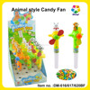 Plastic Rabbit/Monkey/Bear Animal Style Candy Product Type Candy Fan From China Supplier