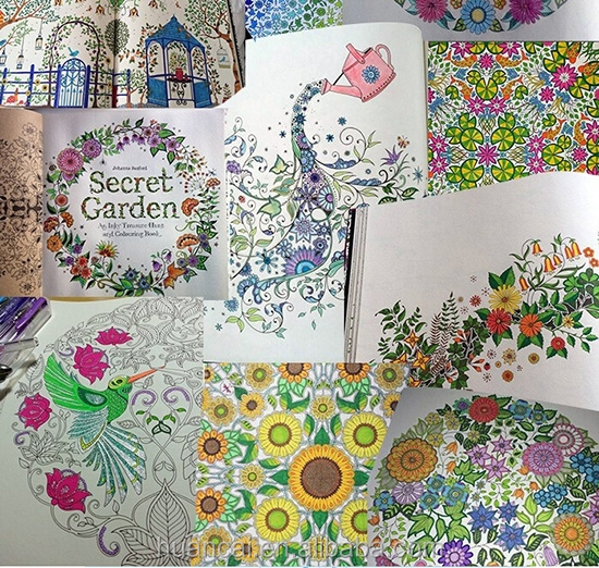 Secret Garden Hand Paint Coloring Book Color Drawing