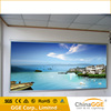 Customized wall touching light up poster frame with fabric screen