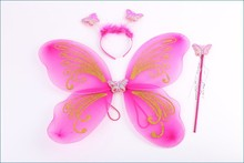 2015 nuevo estilo de Hotsale Blingbling alas de hadas de la mariposa de Nylon Wngs traje