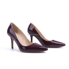 High quality leather shoes for women high heels office lady shoes ladies formal shoes brands famous