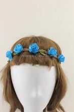 2015 New Design halo flower crown, halo hair headband with flower