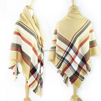 GDK0091 simple style contracted and fashionable stripe knitting scarf shawl wholesale