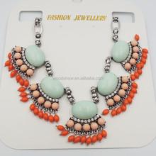 Necklaces & Pendants Hot Sale Transparent Big Resin Crystal Flower Vintage Choker Statement Necklace Fashion Jewelry