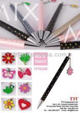 Plastic Pens dangling with charm logo school cartoon keyring figure metal SA8000