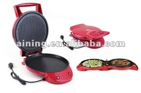 Round contact grill