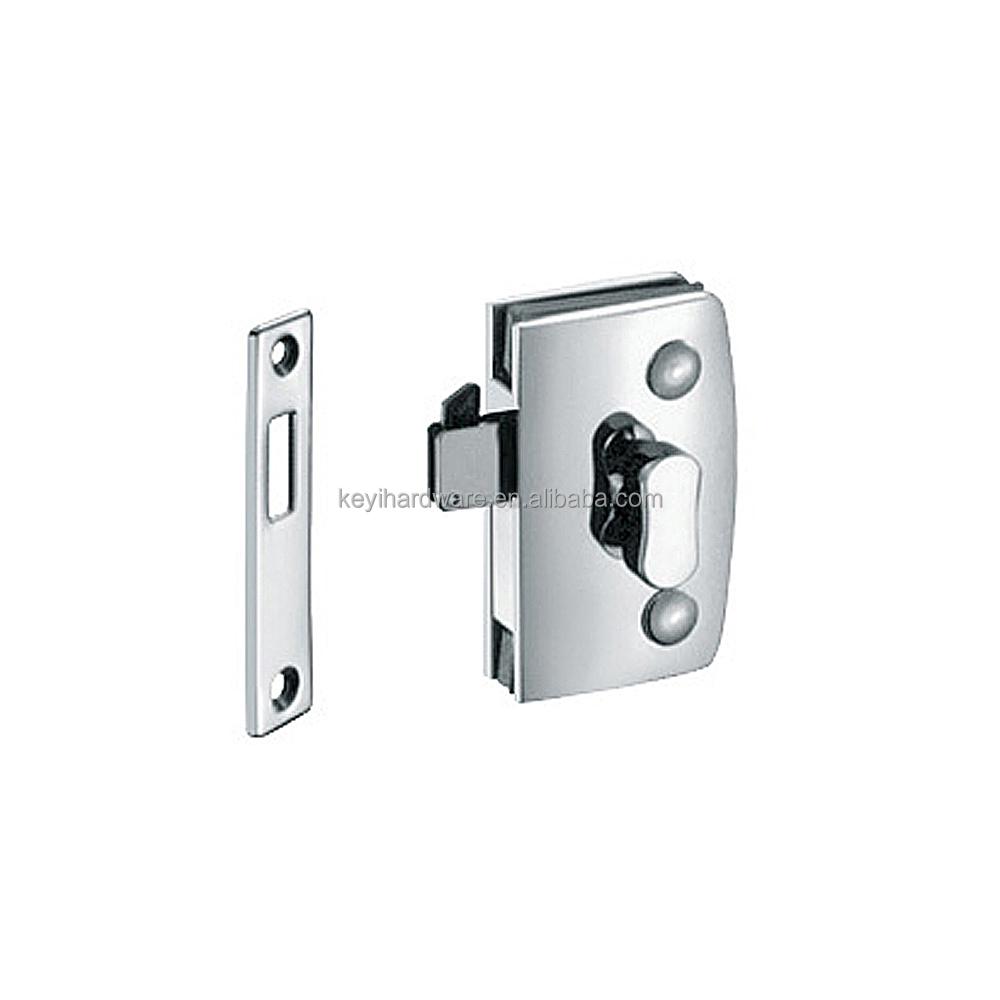 Thumb Turn Door Lock For Double Swinging Glass Door Commercial