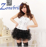 Black White Princess Cosplay Dresses Sex Anime Sexy Lingerie Role Ladies Night Dress Costume Maid Suits